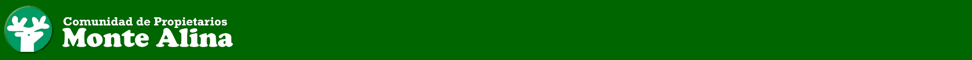 Comunidad de Propietarios de Monte Alina